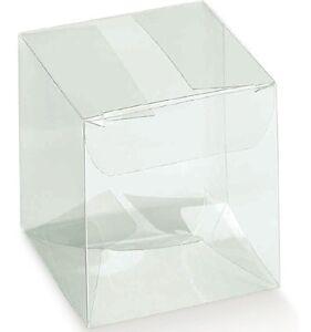 Scatola-trasparente-pvc-cm12x12-Alta-15-Confezione-Regalo-Matrimonio-testimoni