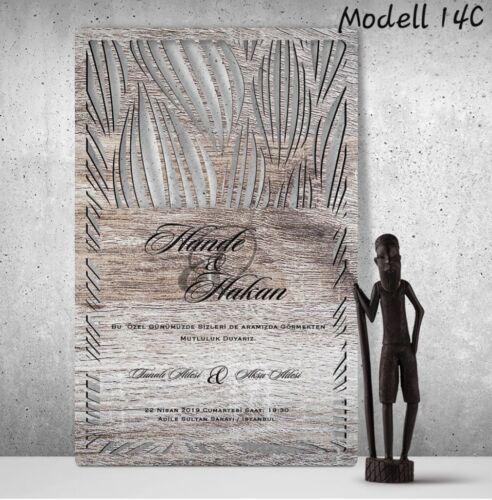 Details about  /Wedding invitation cards made of wood Einladungskarten data-mtsrclang=en-US href=# onclick=return false; show original title Hochzeitskarten 50 Stück invitation cards- en aus Holz 50 piece wedding cards