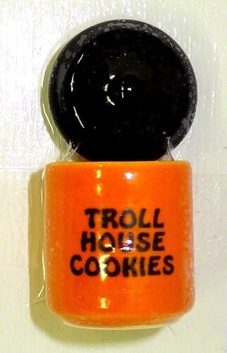 Handcrafted Ceramic Troll Cookies Halloween Cookie Jar Miniatures for Dollhouse