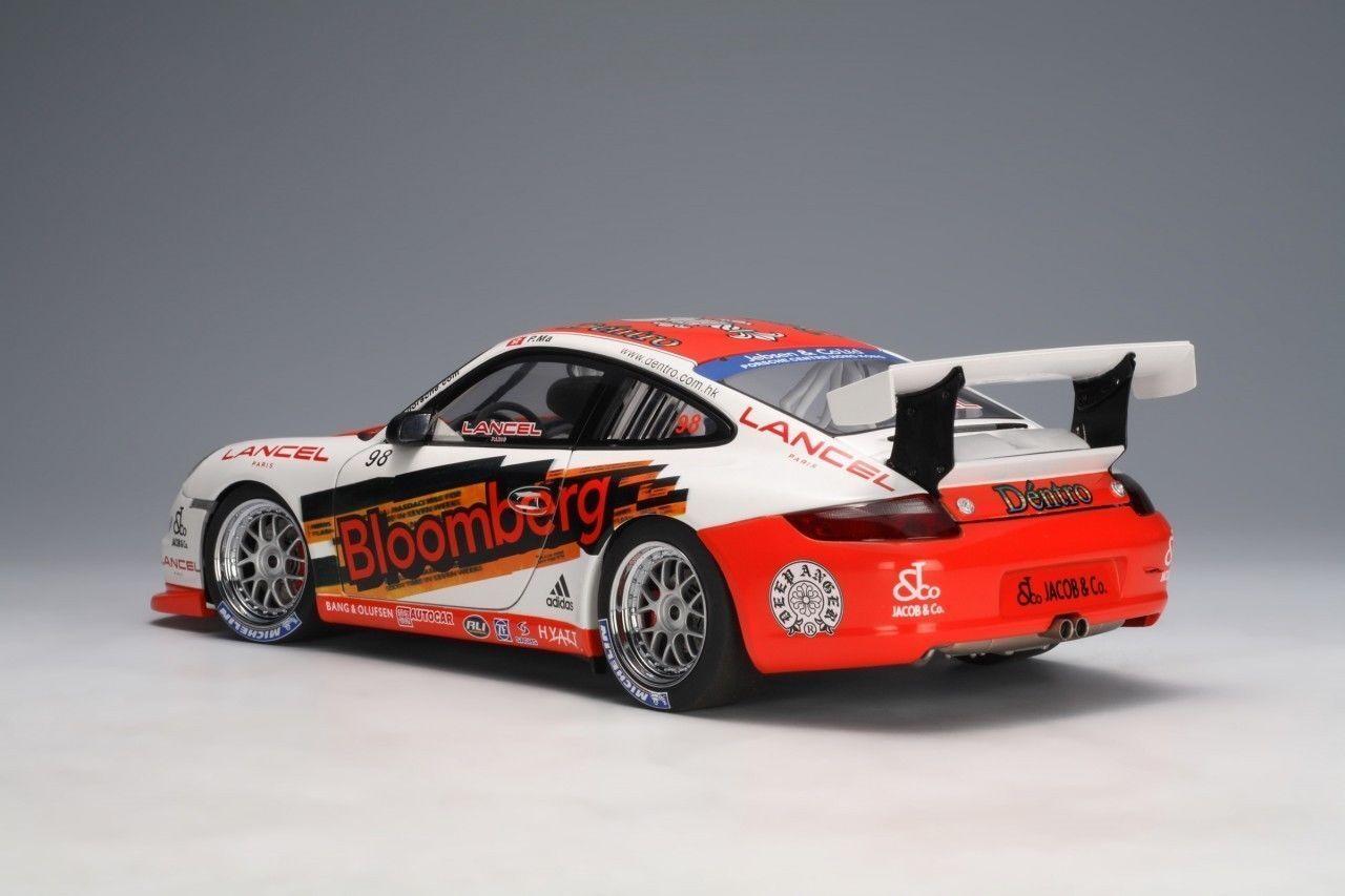 2006 PORSCHE CARRERA 911  997  GT3 RSR BLOOMBERG RACING  98 BY AUTOart 1:18