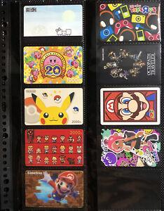 Nintendo Mario Pokemon Kirby Splatoon Octopath Prepaid Eshop Gift Card Set
