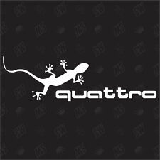 quattro Gecko - Tuning Car Sticker, Auto Fun Aufkleber