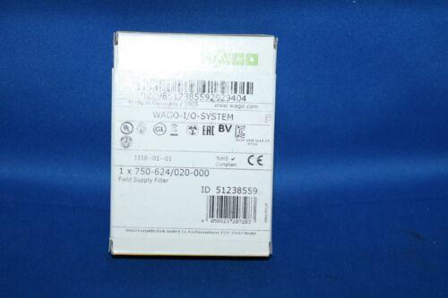 750-624 module Surge 020-000 Wago Filtermodul 24V DC Field Supply Filter