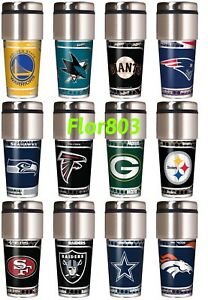 NFL-NBA-MLB-NHL-Team-Travel-Tumbler-16OZ-Stainless-Steel-Coffee-Mug