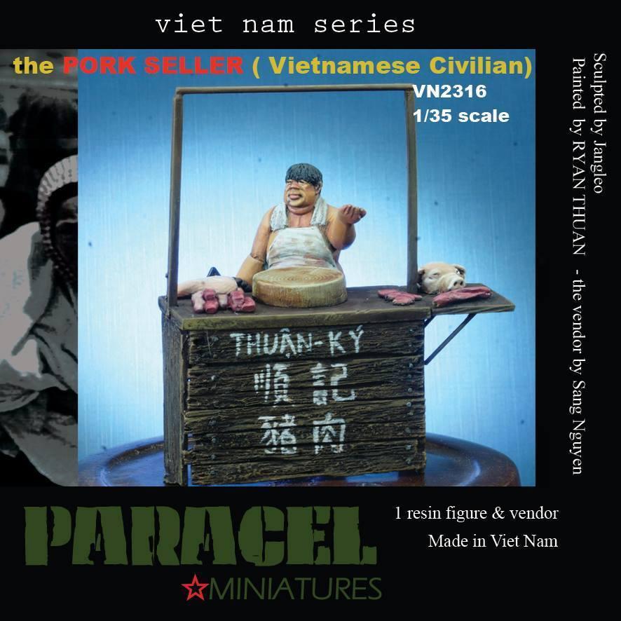 1 35 Vietnamese Civilian - Pork Seller (1 resin figure & vendor)