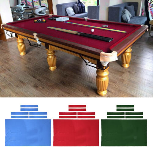 8ft Pool Table Cloth with 6 Felt Strips for Snooker Billiard Table Maintain