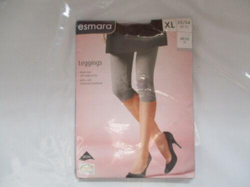 Esmara Leggings Grey Size XL 22//24 EUR 48//50  Cotton New In Pack