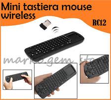 MINI TASTIERA WIRELESS MODELLO RC12 TOUCHPAD PER MINI PC GOOGLE ANDROID TV BOX