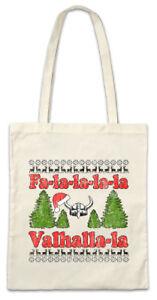 Fa-la-la-la-la-Walhalla-la-Stofftasche-Einkaufstasche-Vikings-Merry-Christmas