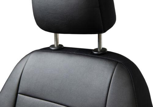 Maßgefertigte Vordersitzbezüge Kunstleder Schwarz für Dacia Lodgy Sitzbezüge
