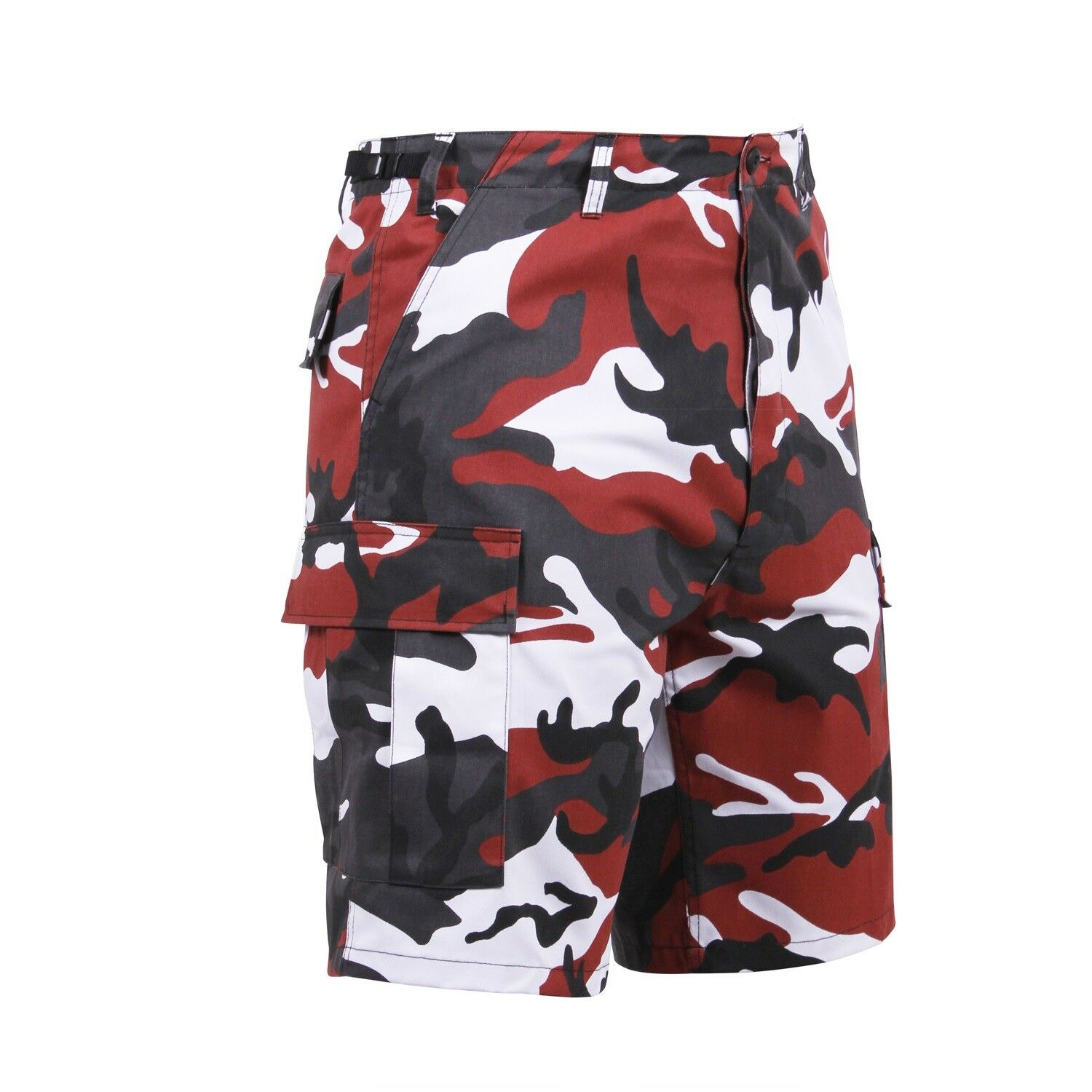 SHORTS BDU ARMY CARGO MILITARY Red Camo CAMOUFLAGE XS,S,M,L,XL,2XL,3XL