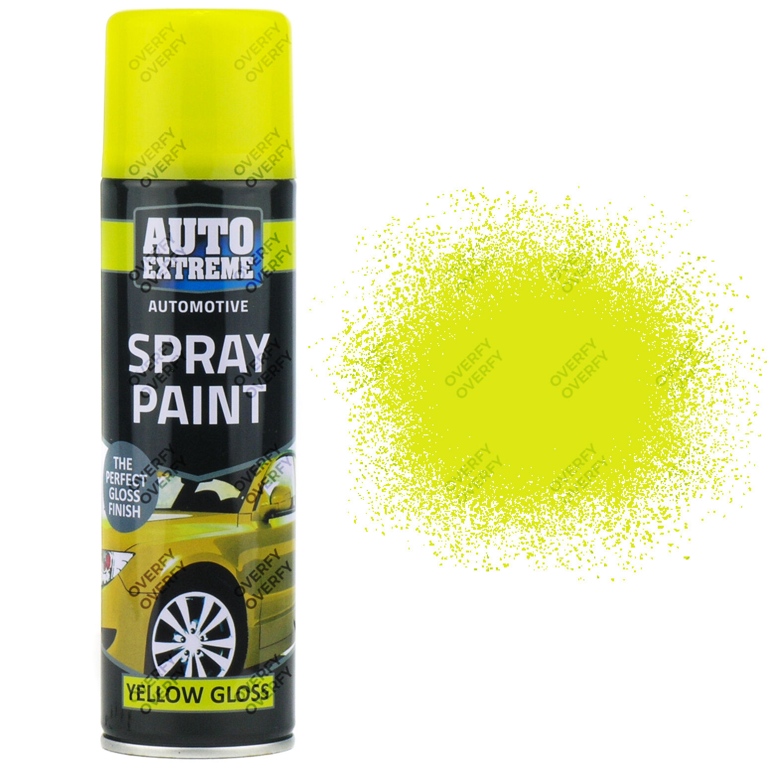 1 X 250ml Yellow Gloss Spray Paint Aerosol Can Auto Extreme Metal Wood Ebay