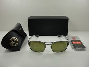 26a13dfcfdc Image is loading RAY-BAN-CHROMANCE-POLARIZED-SUNGLASSES-RB8318CH-004-6O-