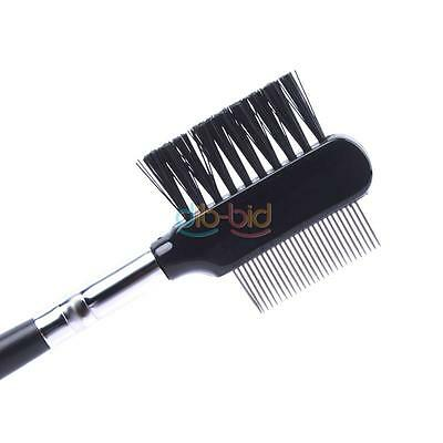 Professional Eyelash Extension Beauty Supplies Brow Brush Lash Metal Comb KZ