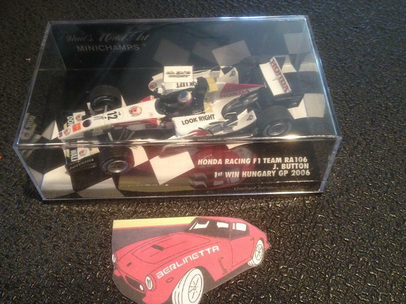 PMA MINICHAMPS 400060412 HONDA RACING F1 TEAM RA106 JENSON BUTTON 1ST WIN 2006
