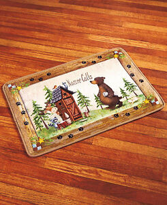 Nature Calls Outhouse Bathroom Collection Shower Rug Mat