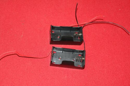 2 X LOT D CELL 1.5V VOLT BATTERY HOLDER MOUNT CASE WIRE LEAD PART ADAPTER