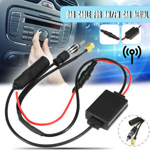 DAB-FM-AM-Aktiv-Antenne-Splitter-Adapter-Kabel-Radio-Verstaerker-fuer-Auto