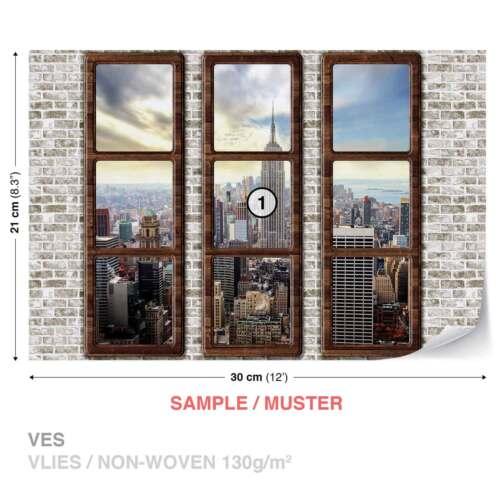 2832WS Papier peint photo papier peint xxl new york city skyline fenêtre view