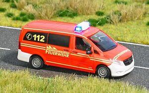 Busch-Ho-5594-Mercedes-Vito-Fire-Brigade-New-Original-Packaging