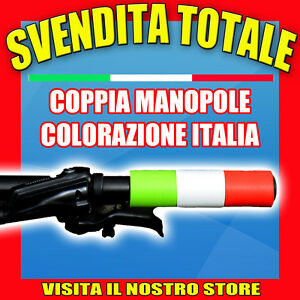 COPPIA-MANOPOLE-MANUBRIO-BICI-BICICLETTA-MTB-FIXED-CITY-BIKE-ESI-GRIP-ITALIA