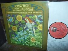 CHAUSSON: Concert + Chanson   Ferras Barbizet Parrenin SQ / EMI 2c France stereo