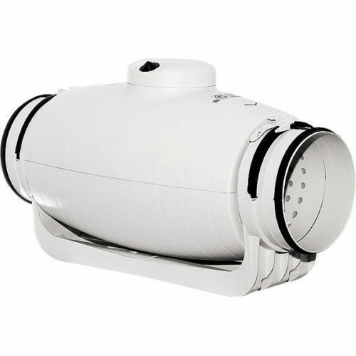 bis 550 m3//h A 27 dB Schallgedämmter Rohrlüfter S/&P TD 500//150-160 SILENT