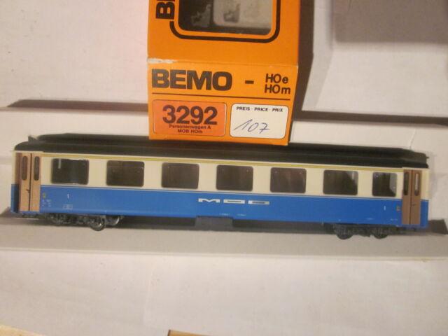 Bemo 3292 317 MOB A 107 Leichtmetallwagen H0m Neu + OVP