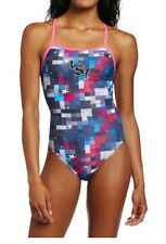 Women 36 Team Speedo Collection Race USA Star Swimming Suit Swimsuit Endurance