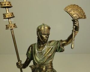 Details about ORISHA OBATALA King White Cloth Yoruba African Statue  Sculpture Bronze Finish