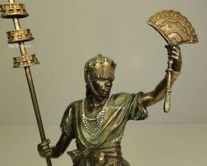ORISHA-OBATALA-King-White-Cloth-Yoruba-African-Statue-Sculpture-Bronze-Finish