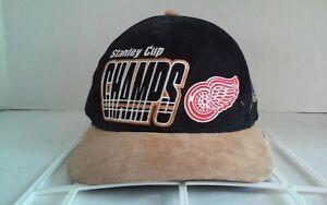 Vintage-Detroit-Red-Wings-1997-NHL-Stanley-Cup-Champs-Starter-Strapback-Hat-Cap