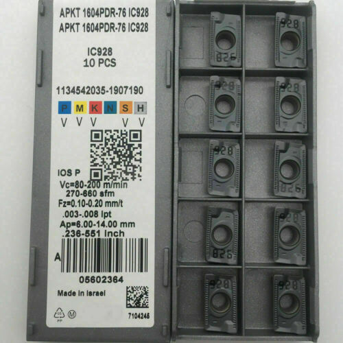 New Tool APKT 1604PDR-76 Grade IC928 CNC Carbide Inserts APKT1604 PDR 76 10PCS