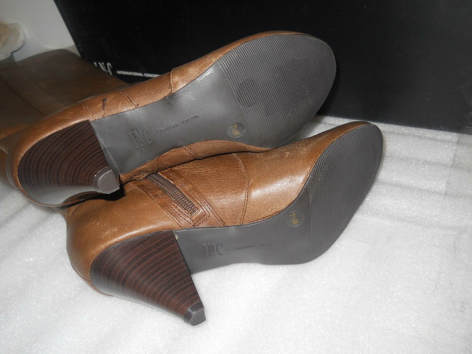 Conceptos internacionales incluido incluido incluido nuevo para mujeres botas De Cuero Marrón Trisha Zapatos de 9.5 M 751d20
