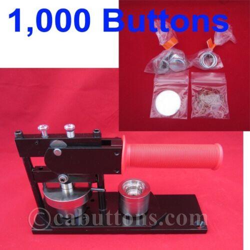 "1/"" inch in Tecre Standard Heavy Duty Button Maker Machine 1,000 1000 Parts"