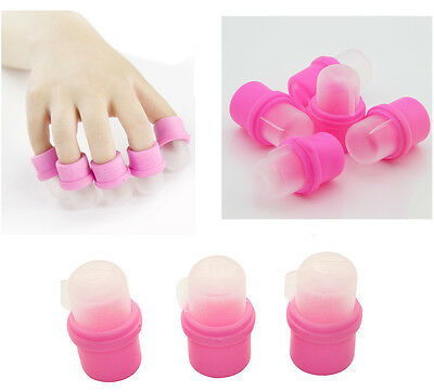 10 Pcs Wearable Nail Acrylic Soaker Kits Polish Remover Gel Removal Cap Tip