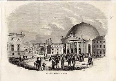 2019 Mode Die Katholische Kirche In Berlin, Holzstich 1847 Durchblutung Aktivieren Und Sehnen Und Knochen StäRken