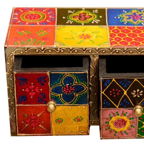 Orientalische Schubladen Schminkkasten Kommode Indian Style Schmuckkasten Chandi