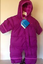 NEW Columbia 3-6M Purple Snuggly Bunny Bunting Snowsuit Down Winter MSRP $95