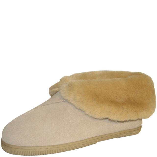 Ladies Slippers Panda Eliya Slipper Boot Warm Soft Fluffy Size 5-10 Camel New