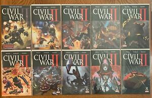 Civil War II #0-8 & FCBD 2016 Marvel Bendis Marquez NM+ 2016