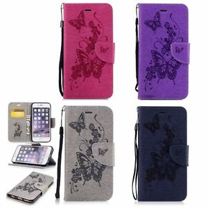 Butterfly-Leather-Flip-Wallet-Case-Cover-For-Apple-iPhone-5-5S-SE-6-6S-7-8-Plus