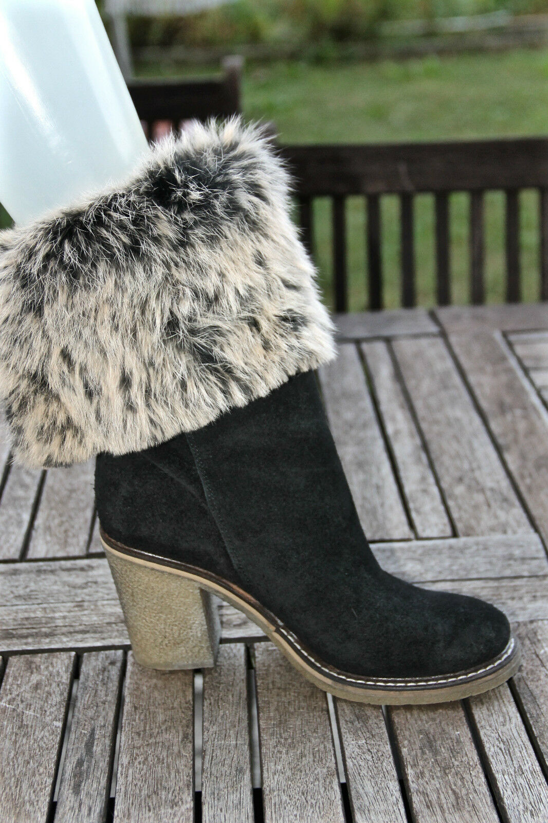 pretty boots suede black and fur MELINE 38 size 38 MELINE MINT dd4295