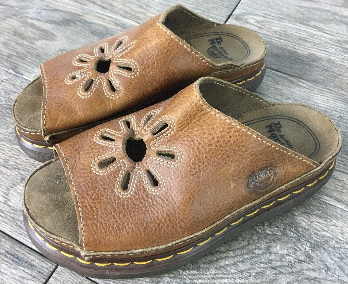 Vintage Dr. Martens Platform Slip On Sandals