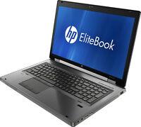 "HP Elitebook 8760W Core i7-2630QM 2Ghz 4GB 640GB 17"" Quadro Win-7 Laptop C (P)"