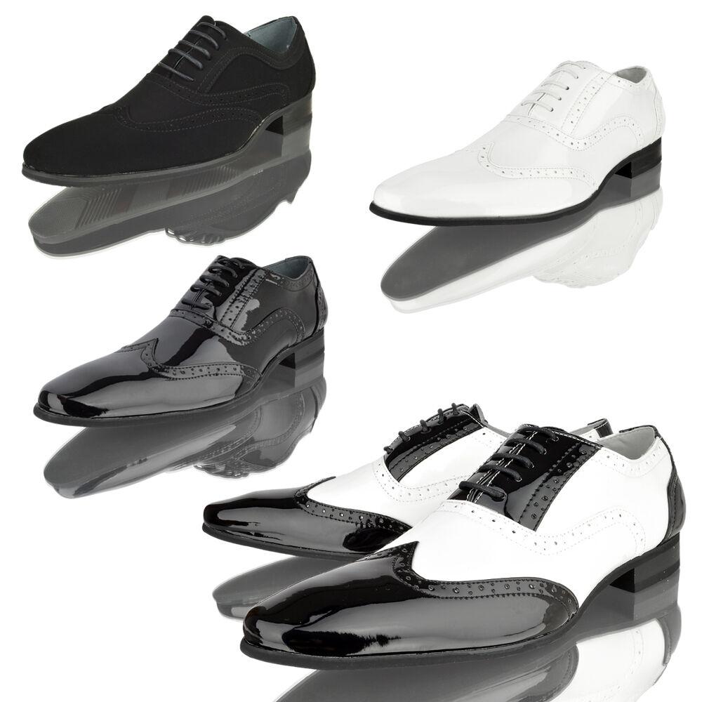 Hombre Oxford Zapato Fiesta Estilo Italiano Elegante Noche Fiesta Zapato Oficina Talla e7c6c7