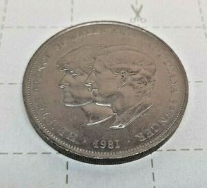 1981 Lady Diana and Prince Charles Wedding Commemorative Crown Coin