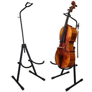 PAITITI-Adjustable-Foldable-Stand-for-Cello-with-Hook-for-Bow-Black