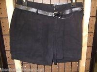Apt 9 - Women - Shorts W/belt - Black - Size 2 (ac-19-97)