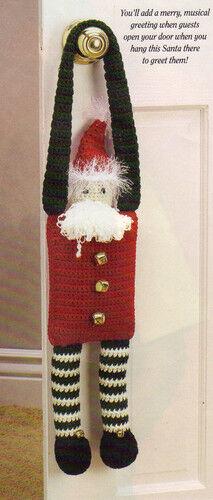 CUTE Jingles Doorknob Santa//Decor//Crochet Pattern INSTRUCTIONS ONLY